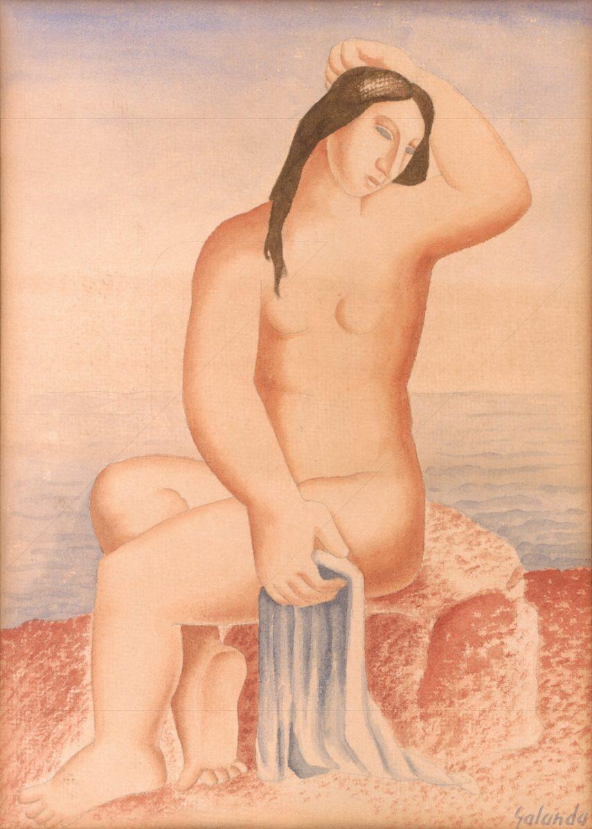 Mikuláš Galanda - Sediaci akt pri mori