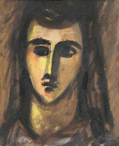Ján Mudroch - Hlava dievčaťa s dlhými vlasmi
