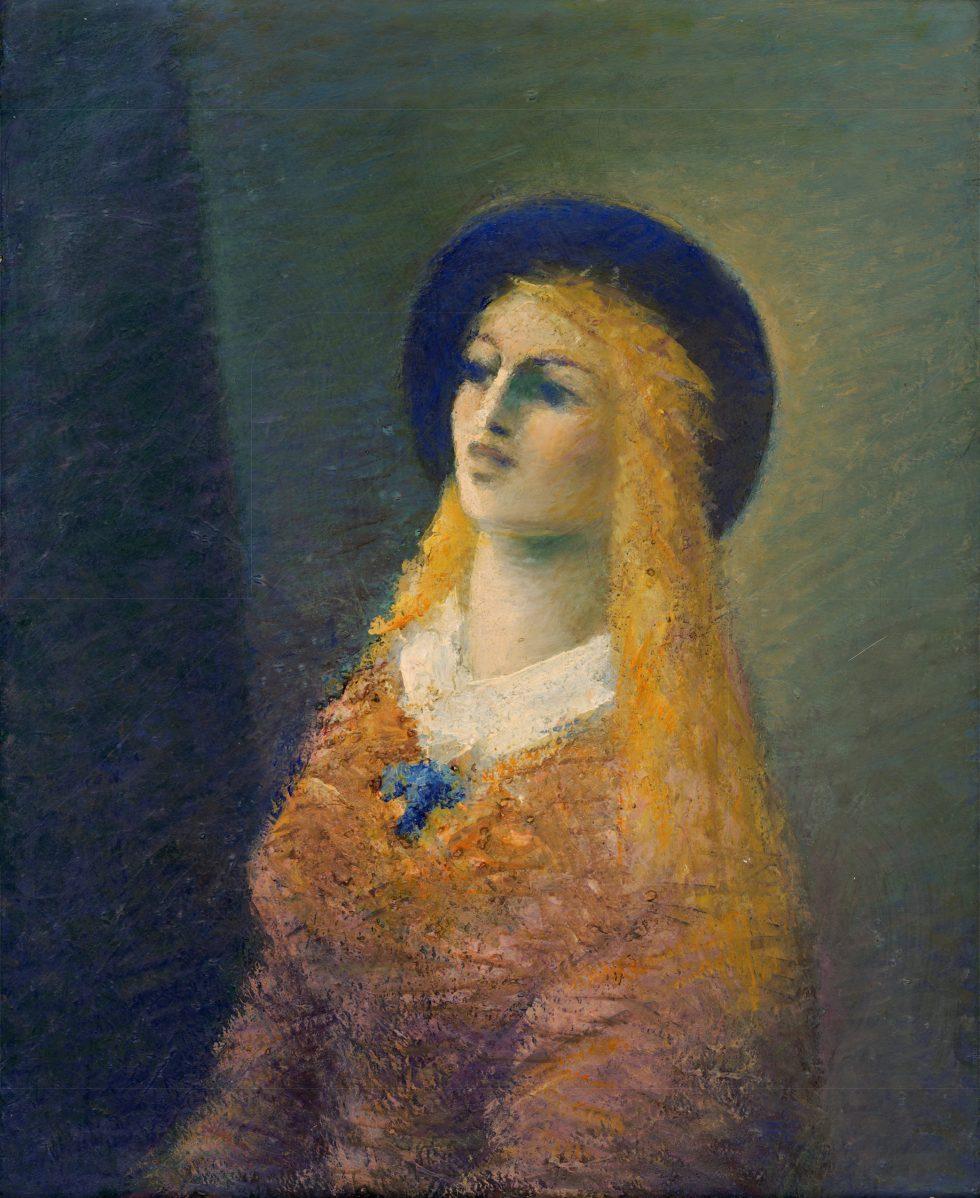 Ján Mudroch - Žena v čiernom klobúku
