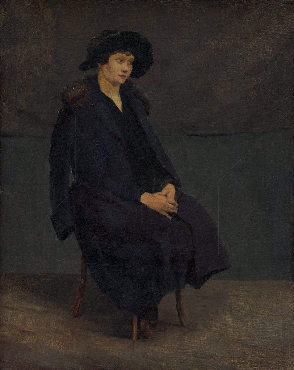 Július Koreszka - Sediaca dáma