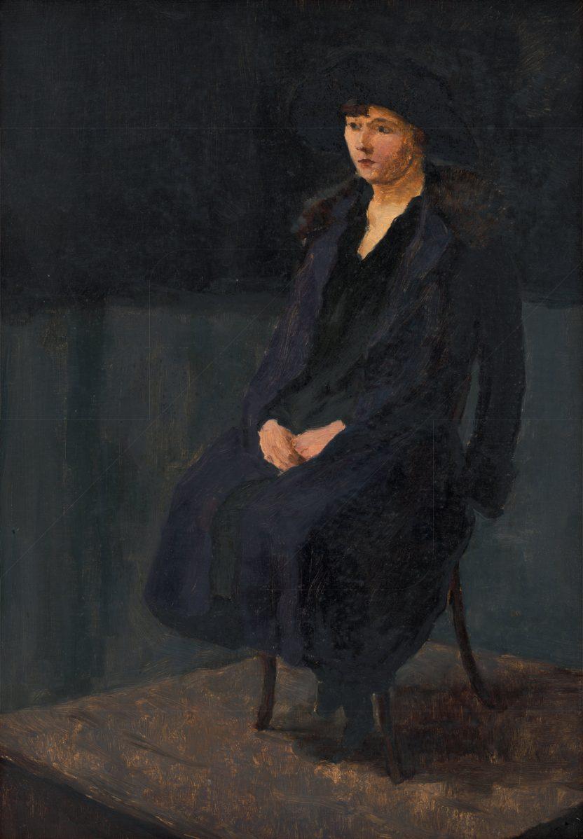 Július Koreszka - Sediaca dáma v čiernom