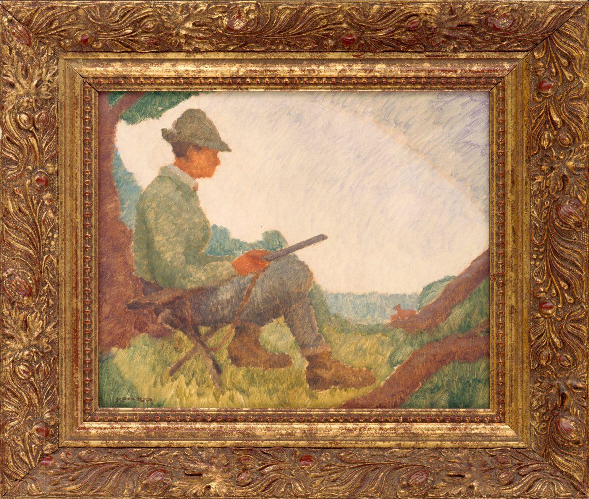 Július Koreszka - Na postriežke - Sediaci poľovník