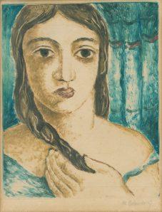 Mikuláš Galanda - Dievča s copom