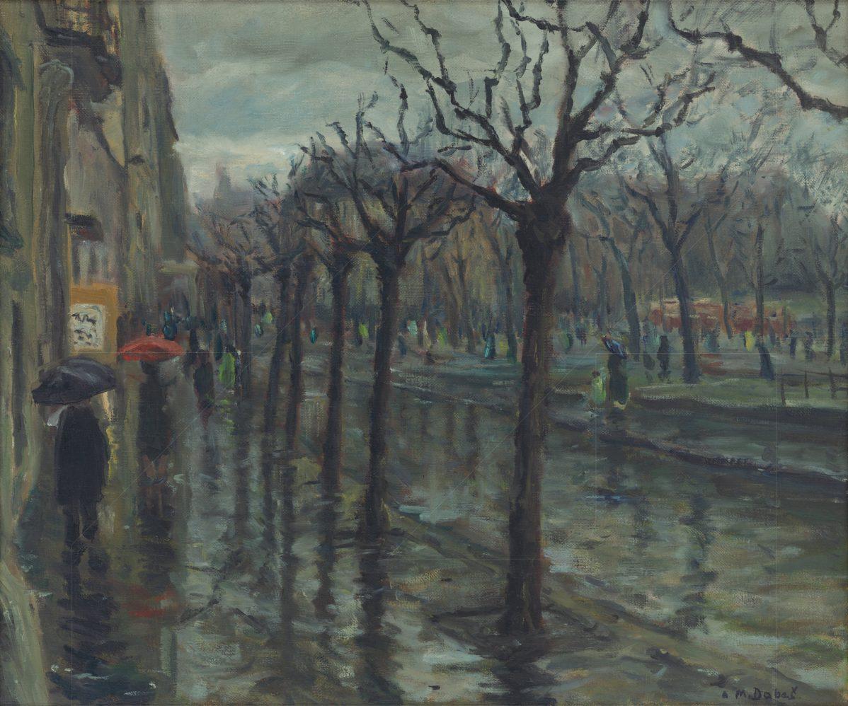 Milan Dobeš - Dážď na Hviezdoslavovom námestí v Bratislave