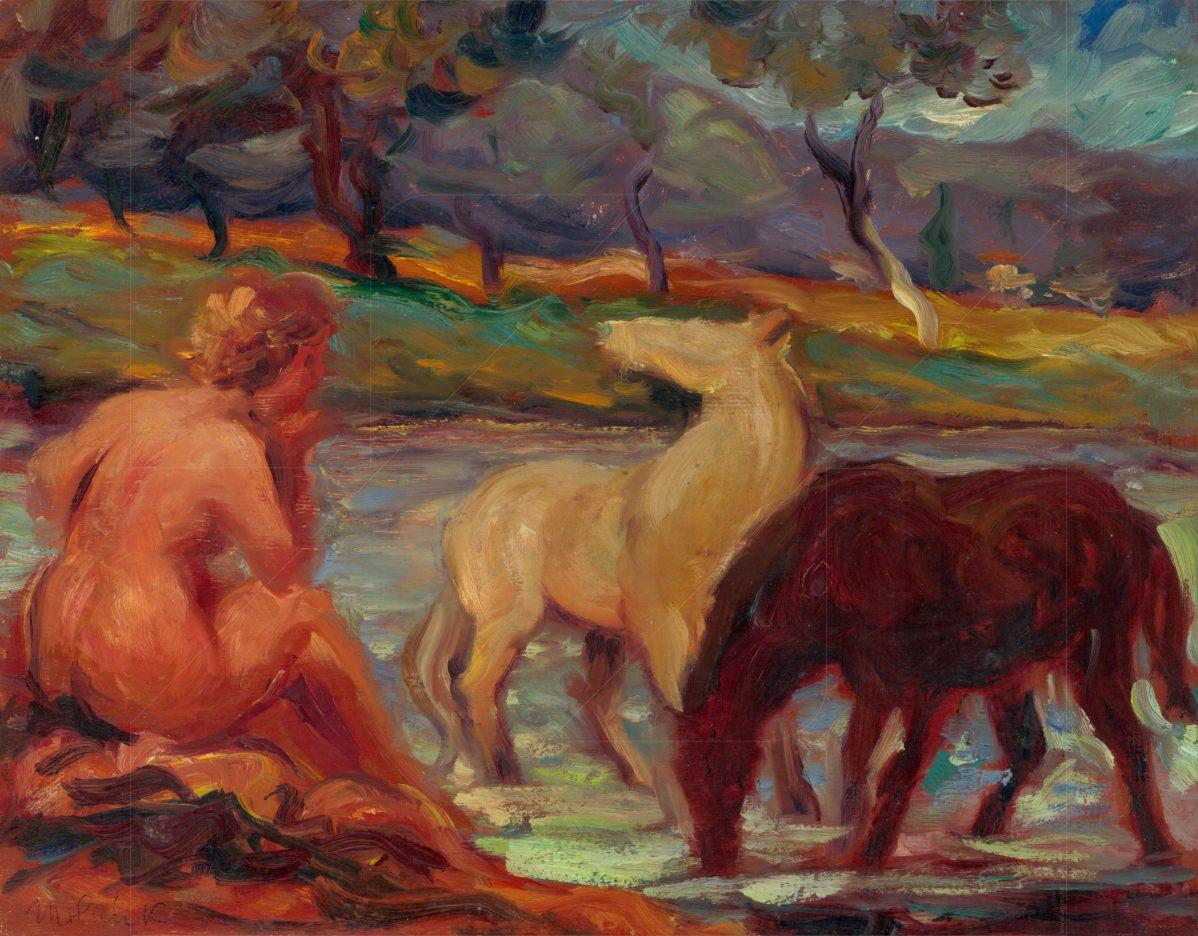 Karol Molnár - Mytologický výjav