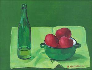 Oľga Bartošíková - Oľga Bartošíková - Miska s jablkami
