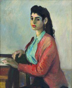 Viera Žilinčanová - Portrét (Sediaca Rumunka)